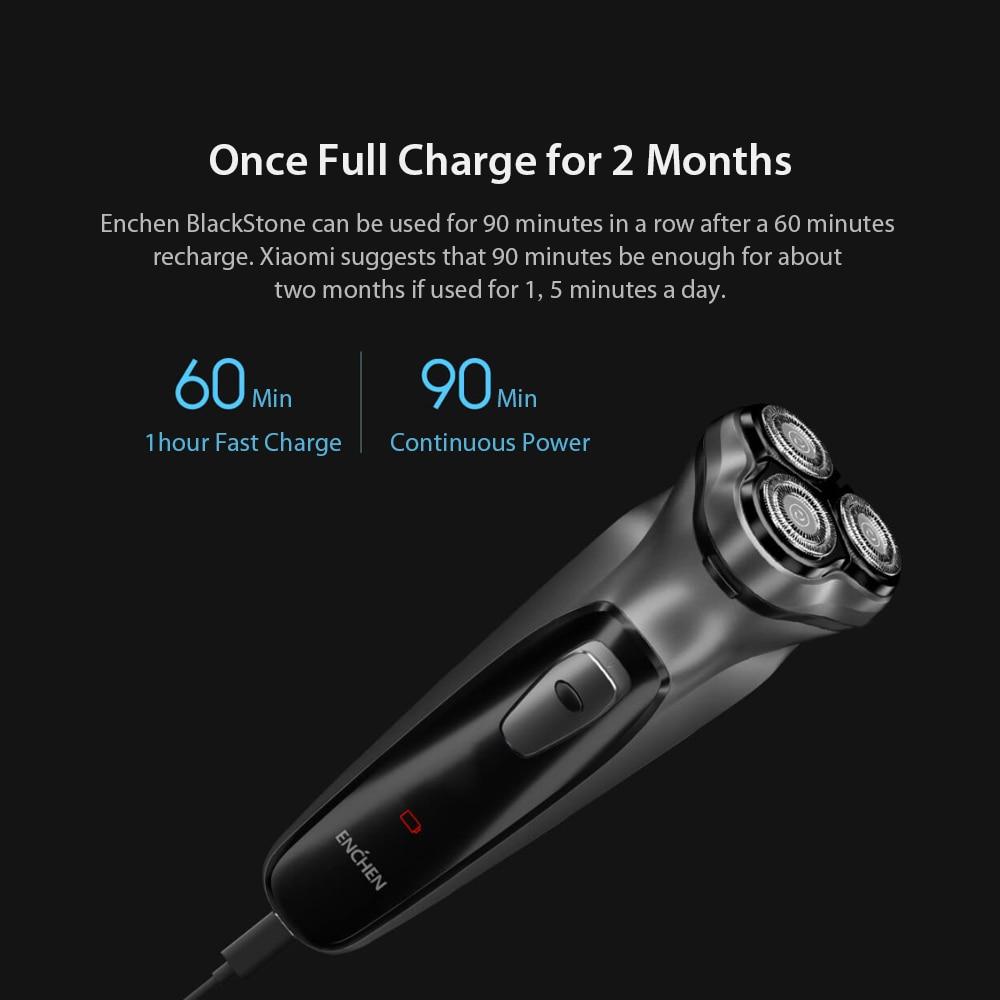 Image 5 - Newest Enchen Black Stone 3D Electric Shaver Smart Control Blocking Protection Razor Washable Type C Rechargeable MenSmart Remote Control   -