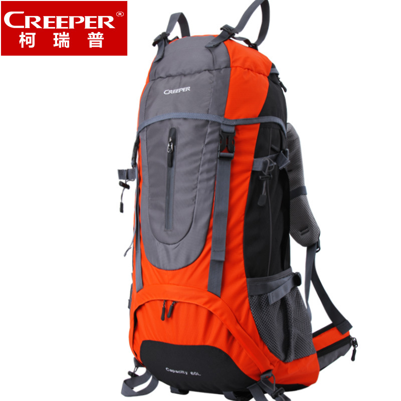 Creeper camping Backpack 2017 professional Nylon Large capacity Shoulder sport bag Waterproof Travel Bag Zipper Backpacker 60L creeper camping backpack 60l hiking climbing sport mountaineering double shoulder bag large capacity waterproof travel backpack