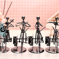 HAOCHU Orchestra Band Perform On Bike Model Creative Music Box Metal Toy For Kids Home Desk