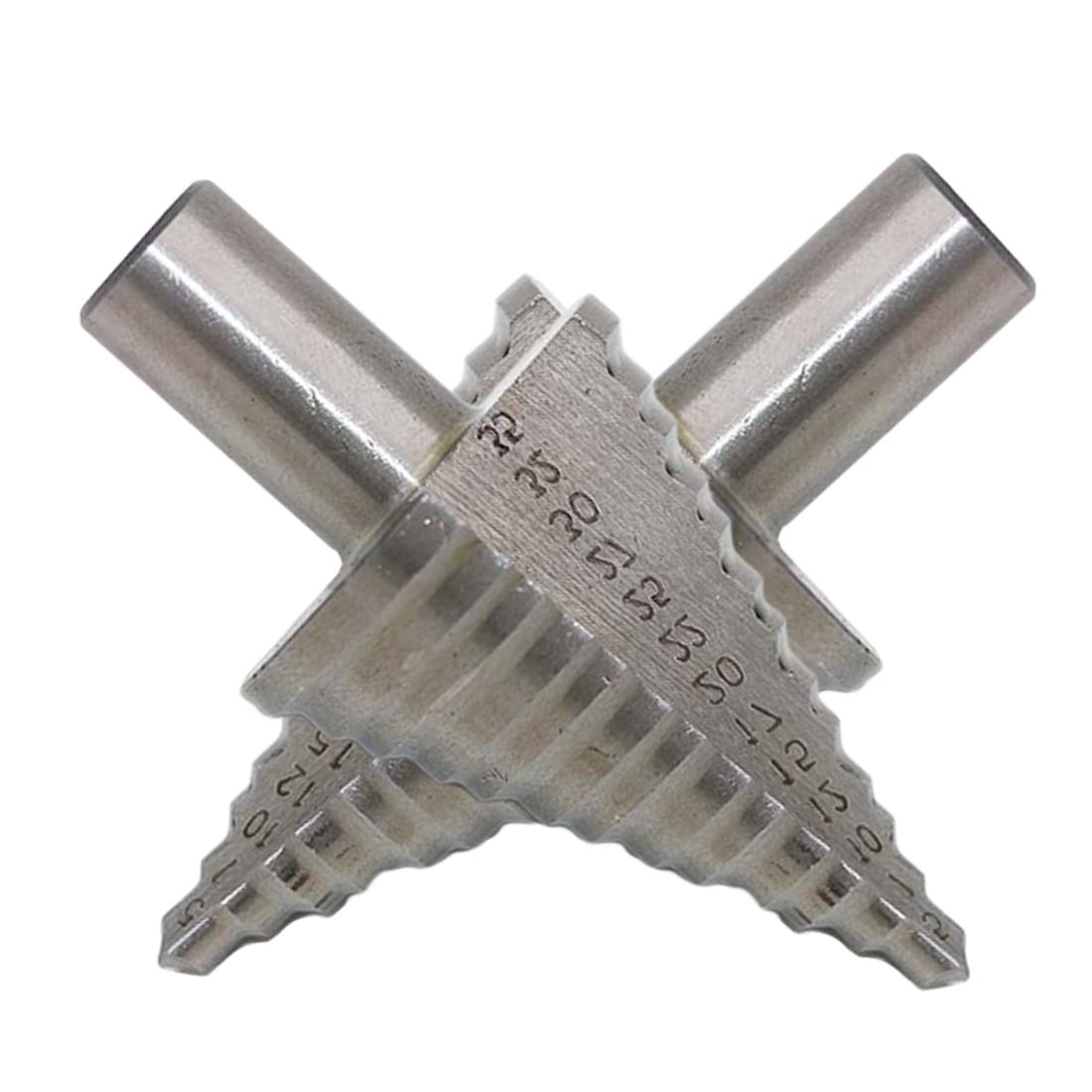 Metal Drilling Tool 5-35MM 13 Steps(5,7,10,12,15,17,20,22,25,27,30,32,35MM) Step Drill Bit HSS Cobalt Reamer Multiple Hole Tool