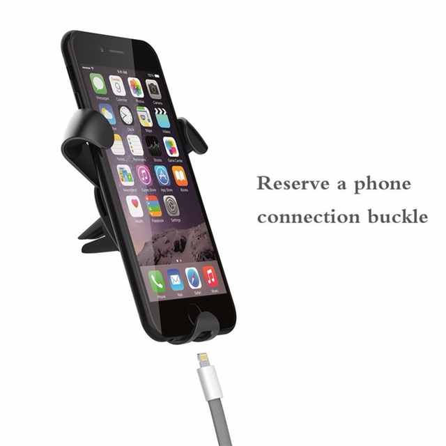 Universal Aluminum Alloy Car Mobile Phone Holder Air Vent 360 Degrees Mount Stand