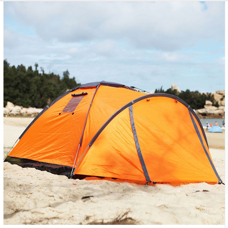 Quality Waterproof Double Layer 2 Person Outdoor Camping Tent Hiking Beach Tent hot outdoor camping double layer 2 person aluminum rod tent waterproof windproof high strength camping tent