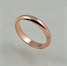 Small smooth ring titanium rose gold ring Factory Girls cheap wholesale jewelry wholesale