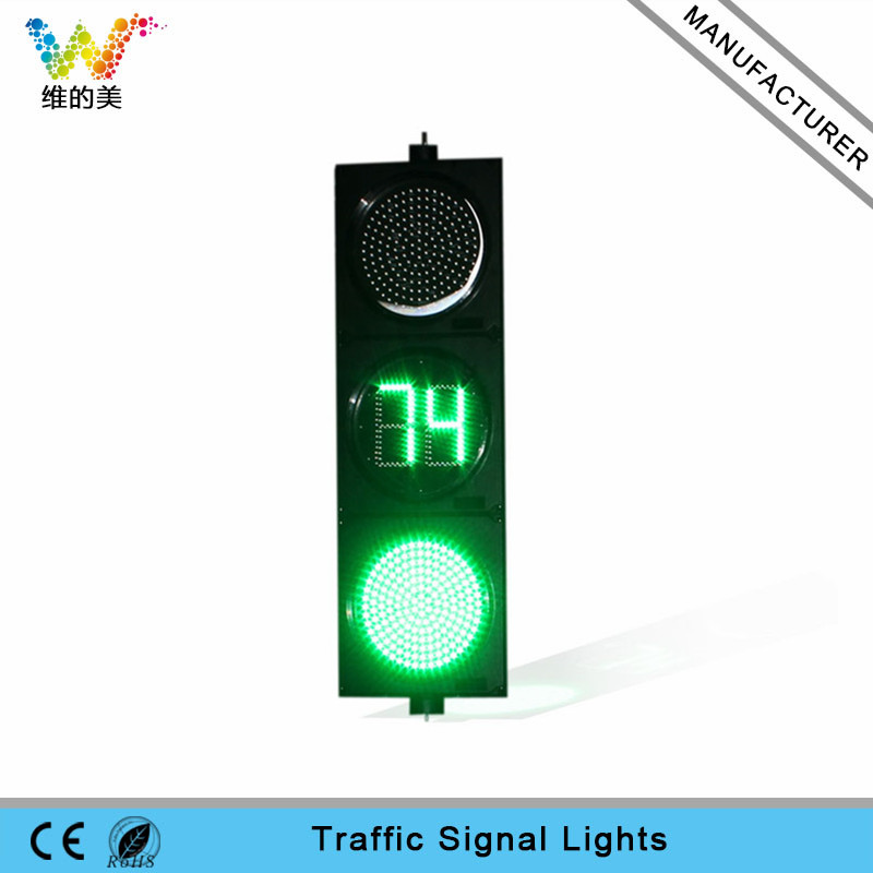 300mm Cars Vehicle  Traffic Signal Light PC Housing Road Junction Crossing Safety Countdown Timer Light