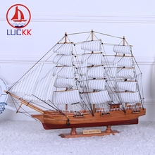 LUCKK 70 60 CM HMS BOUNTY Model Ships Home Interior Decoration Accessories Wood Crafts Sea Style Nautical Mediterrean Style