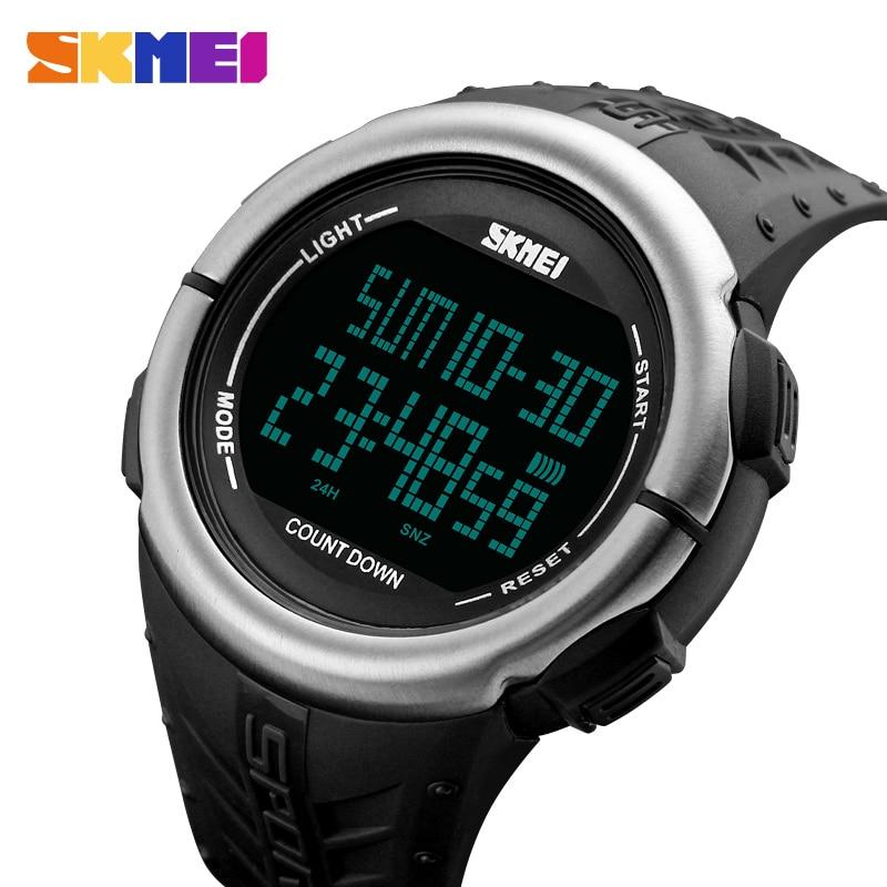 SKMEI Men Sports Watches 50m Waterproof Digital Military Watch Men Outdoor LED Electronics Wristwatches Relogio Masculino