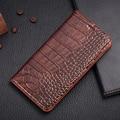 Ímã do vintage couro genuíno case para asus padfone s/padfone x crocodile grain capa de couro de luxo do telefone móvel