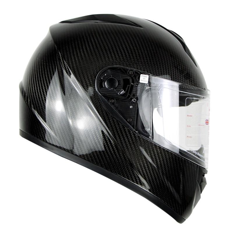 3K Carbonfiber Motosiklet Tam Üz Dəbilqəsi Motorbike Steet Racing - Motosiklet aksesuarları və ehtiyat hissələri - Fotoqrafiya 2