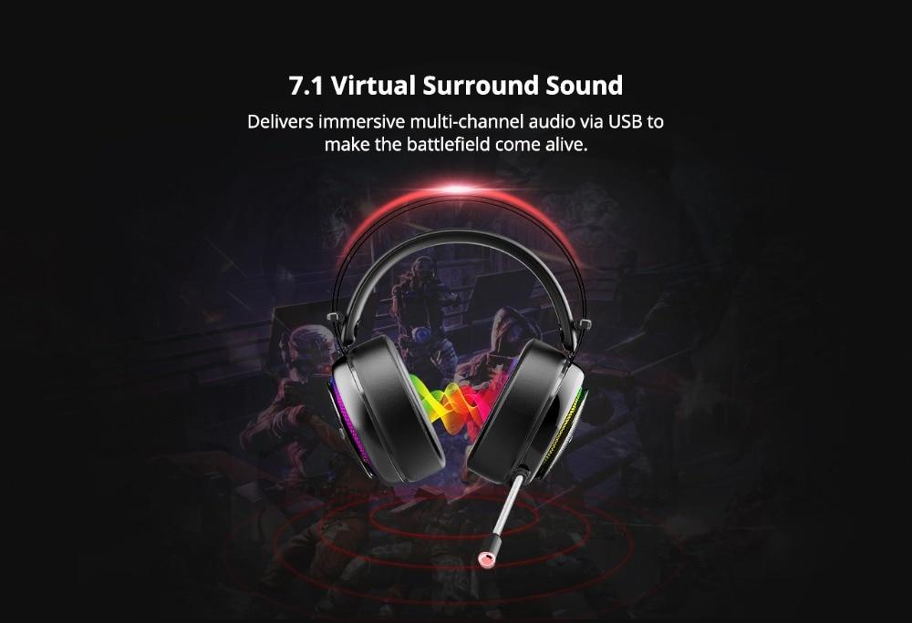 Tronsmart Glary Gaming Headset ps4 headset Virtual 7.1,USB Interface Gaming Headphones for xbox,nintendo switch,computer,Laptop 02
