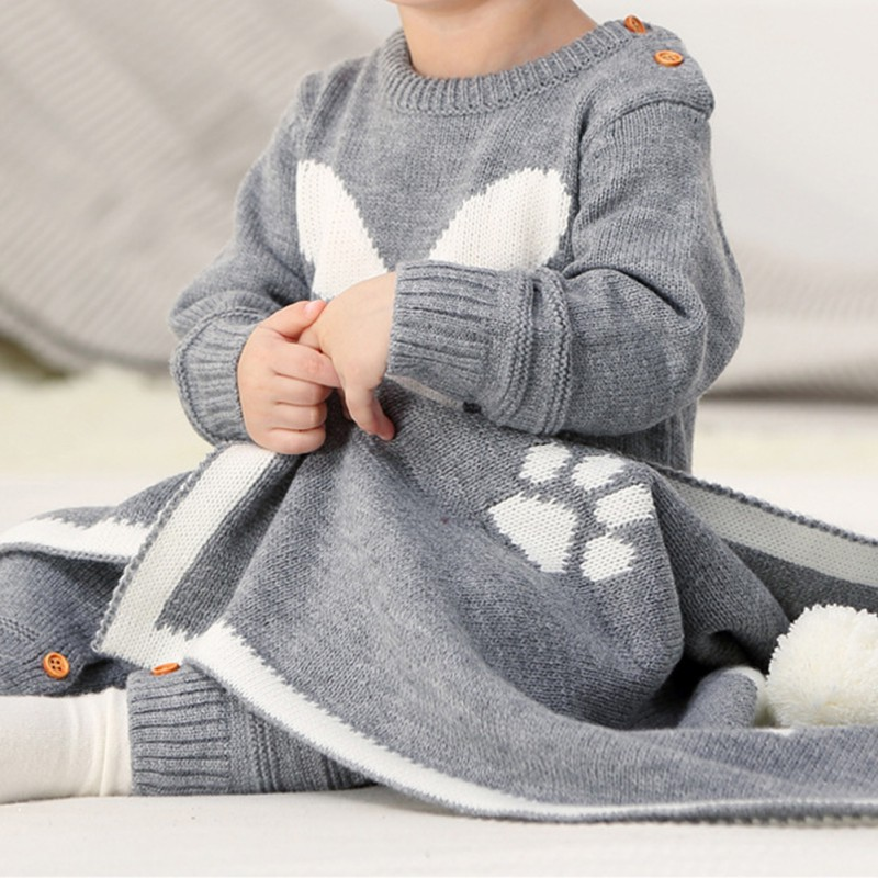 HTB1IPc2XhrvK1RjSszeq6yObFXa9 Baby Rompers Set Newborn Rabbit Baby Jumpsuit Overall Long Sleevele Baby Boys Clothes Autumn Knitted Girls Baby Casual Clothes