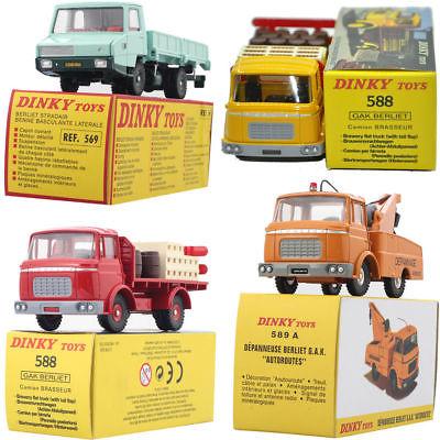 ATLAS 1:43 4PCS SUIT DINKY TOYS 569 + 589A + 588 ALLOY DIECAST CAR MODEL TOY 1 43 dinky toys 587 camion camionnette citroen tub hy h philips atlas alloy diecast car model