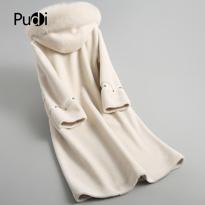 Hiver De black Laine A18113 Réel Avec Femmes Lady Col Beige Fourrure Pudi Fox Chaude Manteau Pardessus camel Veste tqS15nw