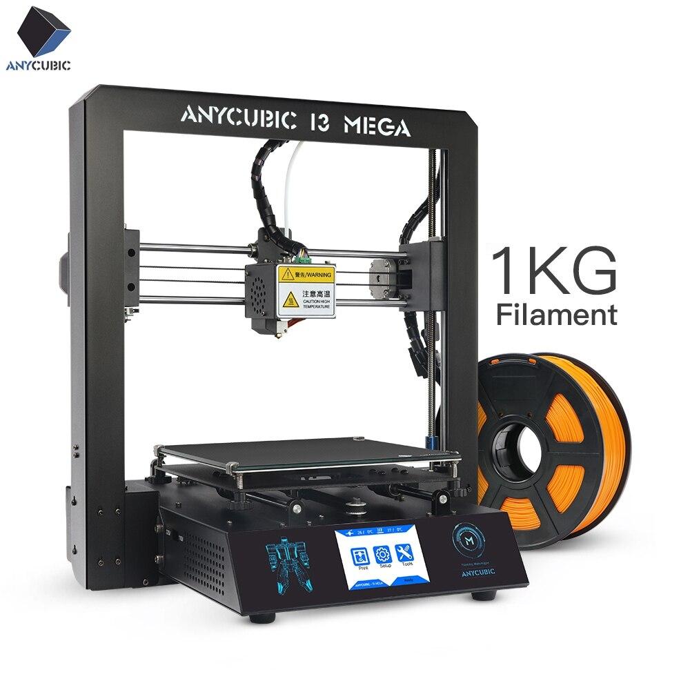 Anycubic 3d Drucker I3 Mega Volle Metall Frame Industrial Grade Hohe Präzision Plus Größe Günstige Düse 3d Drucker Pla Filament Verkaufspreis