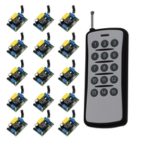 220 V 10 A 15CH Wireless Remote Control Switch Each CH is Independent Learning code Toggle/Momentary LED ON OFF Wireless Switch