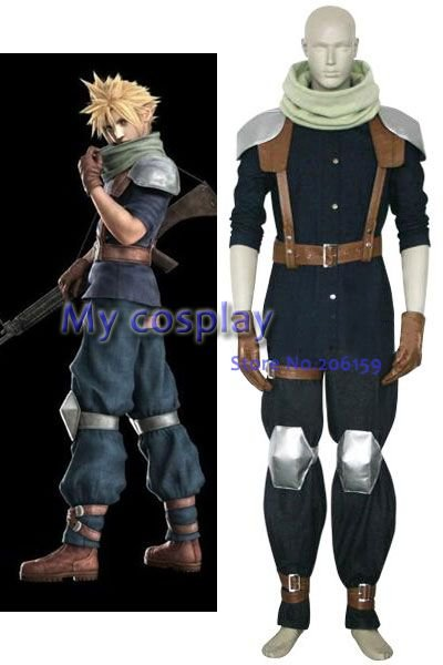 Anime Final Fantasy Cosplay - Final Fantasy VII Crisis Core Cloud Strife Cosplay Costume - Freeshipping e lov women casual walking shoes graffiti aries horoscope canvas shoe low top flat oxford shoes for couples lovers