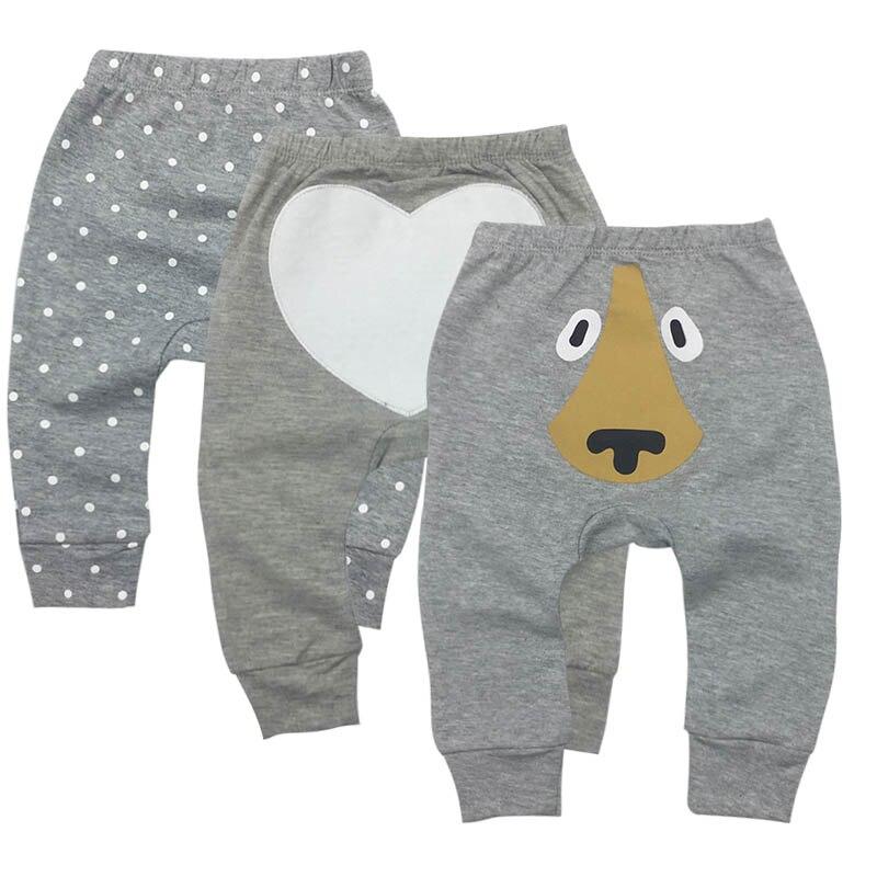 3 Pcs Set Tender Babies Baby Pants 100% Cotton Comfortable Breathable Harlan PP Pants 6-24 Months