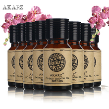 AKARZ value sets skin care Tea Tree Citronella Musk Oregano Jasmine Eucalyptus Rose Cherry blossom essential Oils 10ml*8