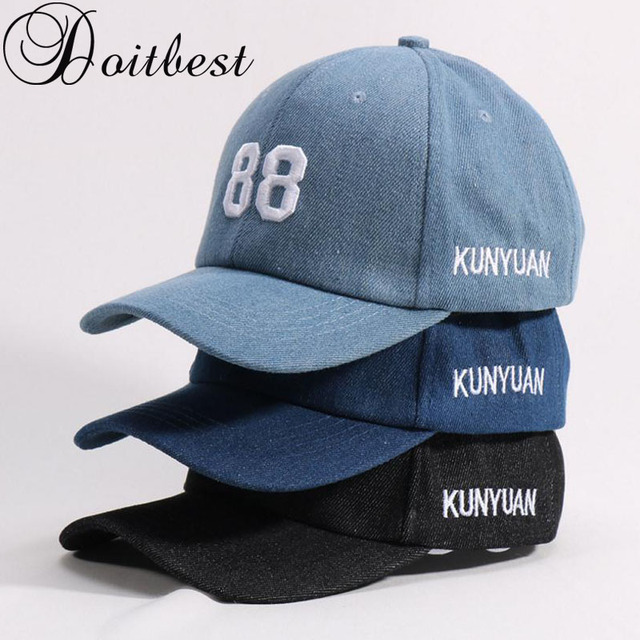 91f79be4aec 2018 Children Hip Hop Child Baseball Cap Embroidery jeans Summer kids  Gorras Boys Girls snapback Caps age for 2-6 years old