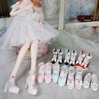 Fortune dias para 1/3 bjd boneca sapatos novo laço variedade estilo salto alto 6.5cm altamente alta qualidade meninas renascer brinquedo presentes