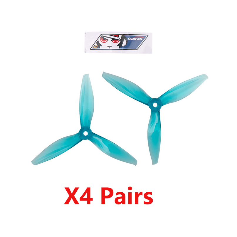 Gemfan 4032 4inch 4x3.2 tri-blade CW CCW Propeller PC Prop Compatible 1406 <font><b>2205</b></font> <font><b>Brushless</b></font> <font><b>Motor</b></font> for DIY RC Drone image