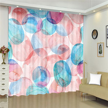Floral Modern Style Curtains for Window Geometric Flowers Blinds Finished Drapes Window Blackout Curtains Parlour Room Blinds nightmare curtains for window dark style butterfly batman blinds finished drapes window blackout curtains parlour room blinds