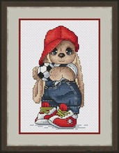 Needlework  14CT 16CT Cross Stitch, DIY Count Embroidery Set, Football rabbit