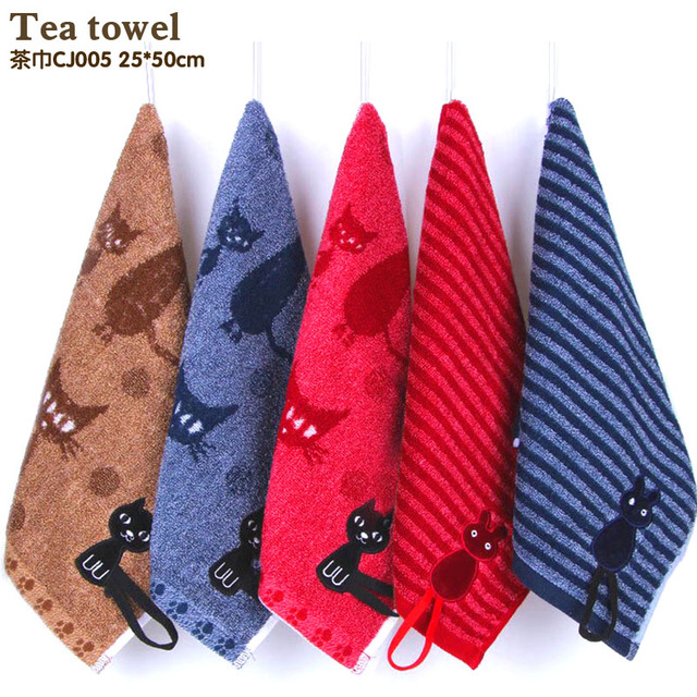 Soft Cute Baby Towel Handkerchief for Infant Kid Children Feeding Bathing Face Washing Deep color  Tea towel cloth Original cat