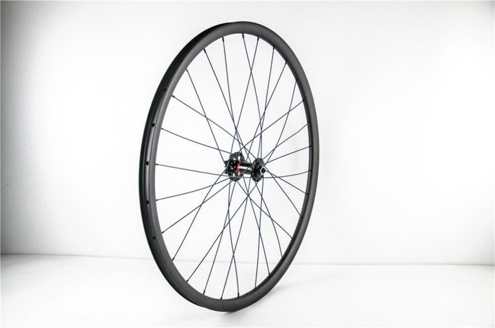 29er MTB XC carbon tubeless front wheel UD 3K 12K 3K Twill glossy matte 24 28