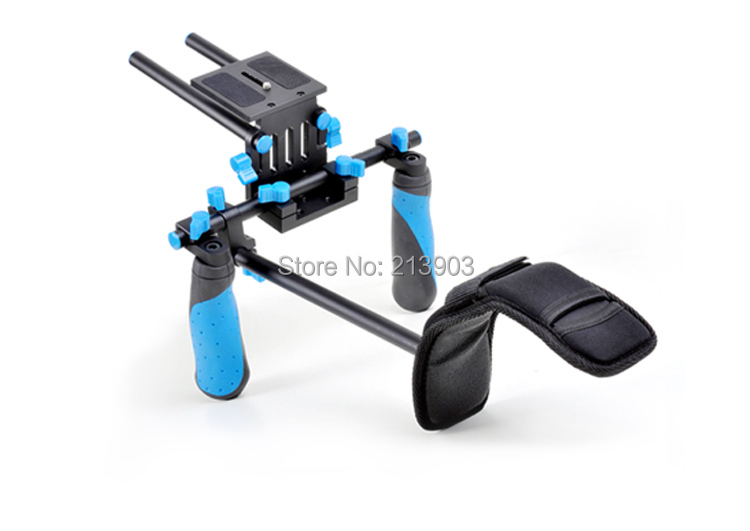 DSLR/VCR Rig Shoulder Pad Mount for 15mm Rail System Follow Focus Canon Nikon koolertron professional 15mm rail dia dslr shoulder pad support mount rig hand grip for cannon sony dv hdv hd camcorder