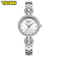 High Quality Luxury Brand Women Watch Diamond Alloy Strip Fashion Ladies Quartz Bracelet Table Relogio Feminino