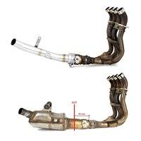 Muffler Exhaust Mid Pipe For Suzuki GSX S GSXS 1000 GSXS1000 2015 2016 2017 2018 Stainless Steel Decat Downpipe Exhaust