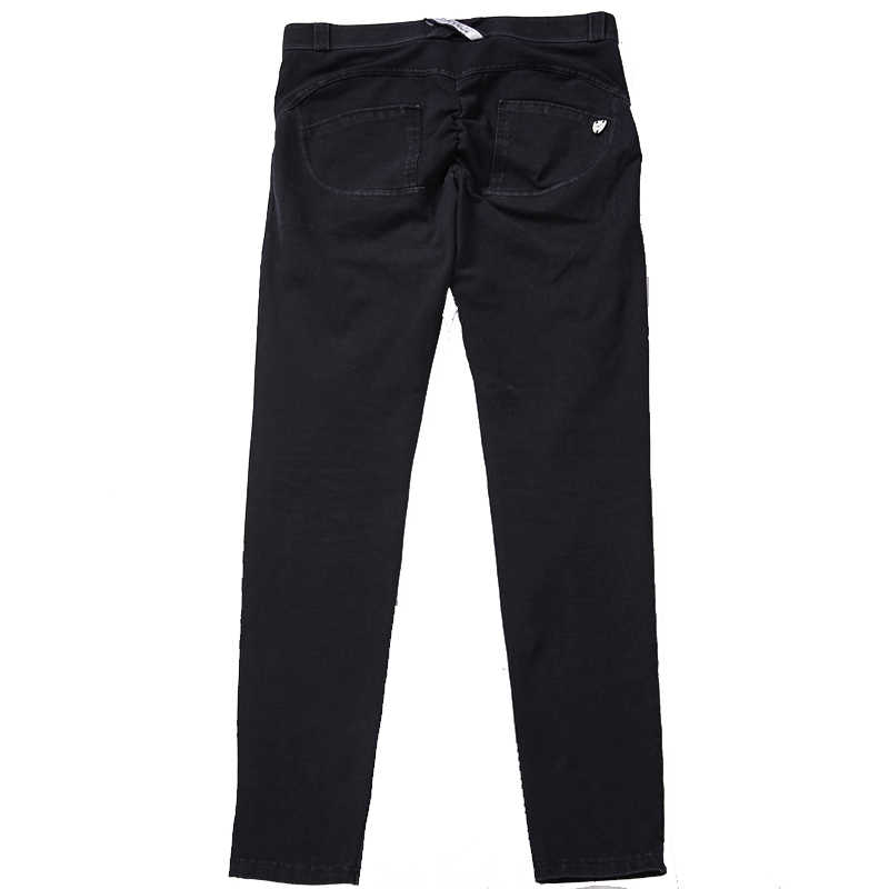 c864a5c70 ... AK s hand denim low waist long athlete compression garments scrunch butt  leggins mujer push up legging ...