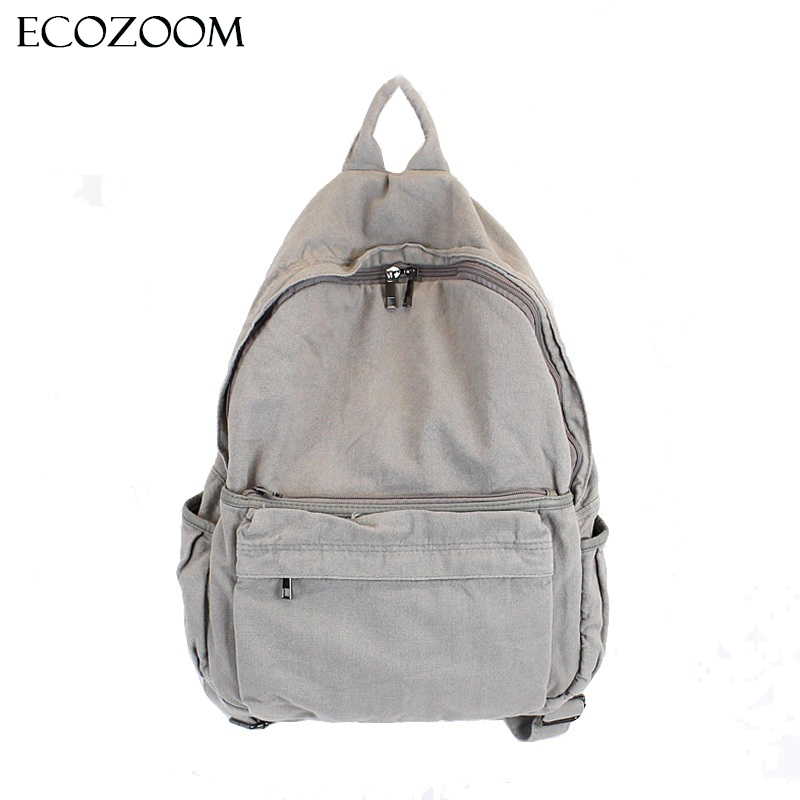 Korean Casual Wash Canvas Backpack Retro Student Back Pack Travel Simple Art Laptop Bag Girl Boys School Bags Couple Bagpack Sac chic canvas leather british europe student shopping retro school book college laptop everyday travel daily middle size backpack