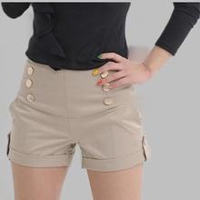 Горячая распродажа стильных женских повседневных шорт года, дизайнерские шорты в стиле пэчворк с карманами размера плюс, стильные свободные шорты с завышенной талией