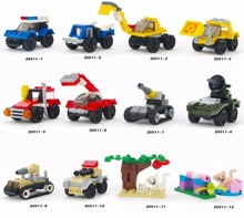 Mini Building Blocks for Boys Educational Toys Christmas Birthday Gifts for Children TRUCKS I-10