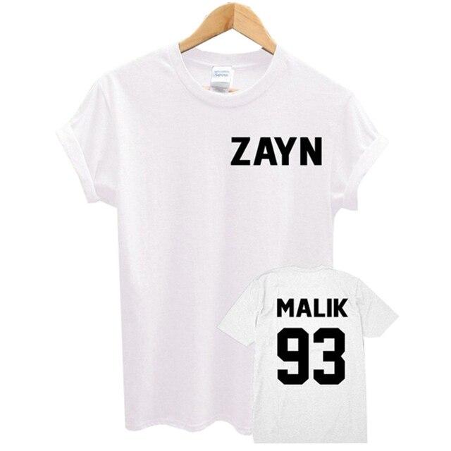 1456e5cd Momoluna Female T-shirt ZAYN MALIK 93 Print Summer Funny T Shirt Short  Sleeve T-shirts Women Men Casual Top Shirts