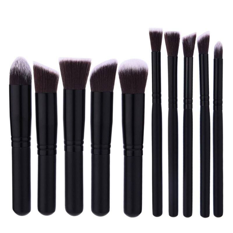 Professional 10Pcs Makeup Brush Sets Tools Cosmetic Brush Foundation Eyeshadow Eyeliner Lip Powder Brush High Quality beauty girl hot professional 8pcs mini cosmetic eyebrow eyeshadow brush makeup brush sets kits tools nov 3