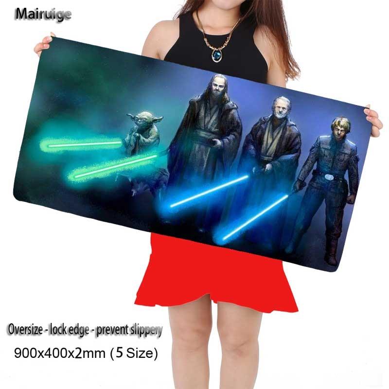 Star War Pictures DIY Custom Mousepad L XL Super Grande Large Mouse Pad Game Gamer Gaming Keyboard Mat Computer Tablet Mouse Pad