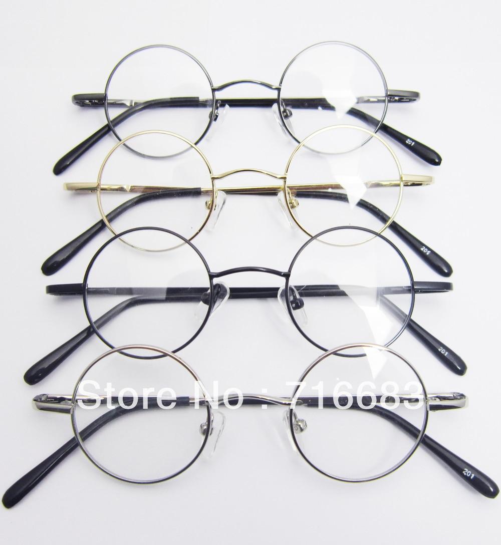 b300fc85ff 37mm Small Round Retro Vintage Children Kid Kids  Eyeglass Frame Harry  Potter Round Eyeglass Frames Black Gold Silver Gun Grey