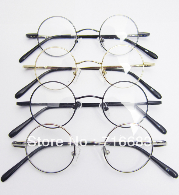 2929be4a5a 37mm Small Round Retro Vintage Children Kid Kids  Eyeglass Frame Harry  Potter Round Eyeglass Frames Black Gold Silver Gun Grey