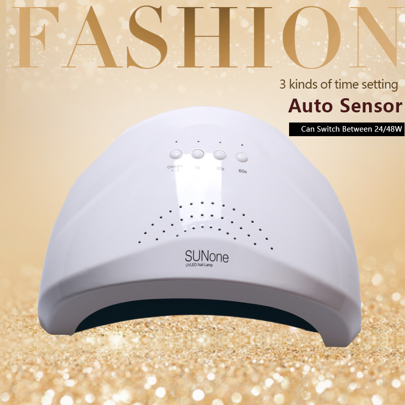 48W/24W UVLED SUN Light  UV  Nail Dryer LED Nail Lamp Fast Drying For Curing Nail Gel Polish With Sensor