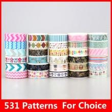 588 Patterns Hot 30pcs/Lot Tape flowers chevrons Print Deco DIY Adhesive Masking Tape,Japanese Washi Tape Paper 10m Wholesale