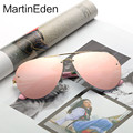 MartinEden Unisex Rimless Men Sunglasses Women 2017 Female Shades Sun Glasses For Woman Pilot Style Pink Reflective Mirrored Len