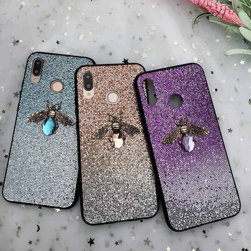Bling Glitter 3D Bee Case For Samsung Galaxy S10 S9 S8 A8 A6 Plus S7 Edge A9 A7 J8 2018 J5 J7 J3 J2 A5 A3 A7 2017 Note 9 8 A8S