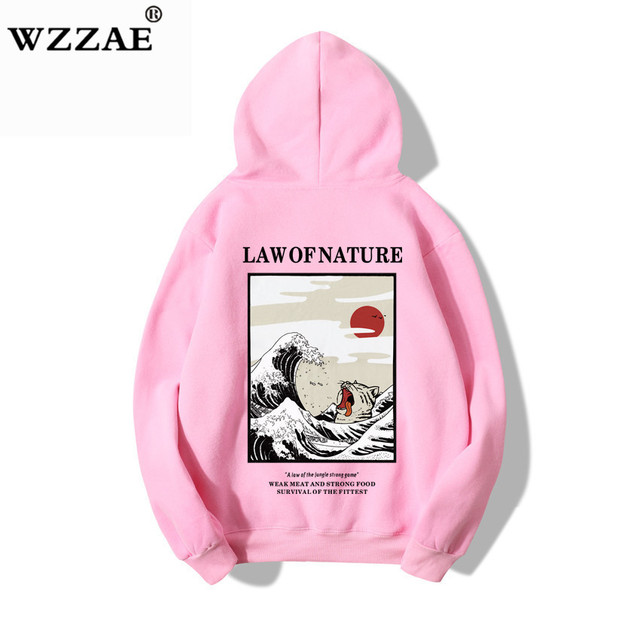 65bc332b8 100% Cotton 2019 Purpose Tour Hoodie Sweatshirt Men Women Japanese  Embroidery Funny Cat Wave Printed Fleece Hip Hop Hoodies Male