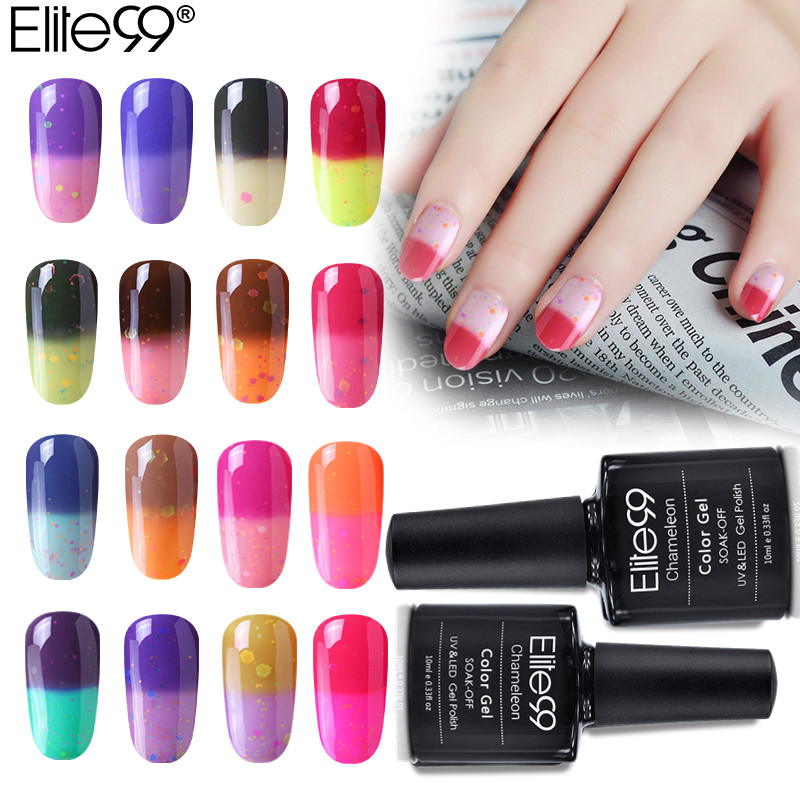 Elite99 32 Pcs/set Cheese Temperature Change Color Nail Gel Polish Soak Off UV Gel Polish Led Nail Polish Long-last Gel Lacquer elite99 3d magnetic cat eye gel polish soak off nail art