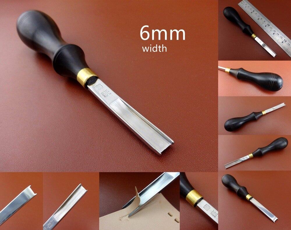1pc 6mm Leather Craft French Style Edge Skiving Skiver Beveler Chipping Cutter Tool - Edger Creaser Groover Beveler Skiver Knife