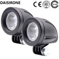 2PCS 10W 1000LM Motorcycle LED Light Fog Light Lamp Universal Headlight For Automobile Car SUV Truck