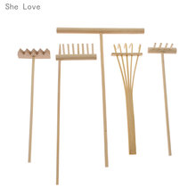 She Love 5pcs Bamboo Zen Garden Rake Meditation Tools Home Decor Relaxation Handcrafted(China)