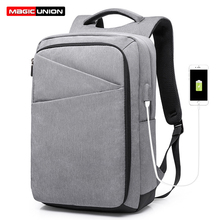 MAGIC UNION New Oxford Laptop Backpack Student School Bag Lightweight USB Charging Mens Business Travel Bagpack